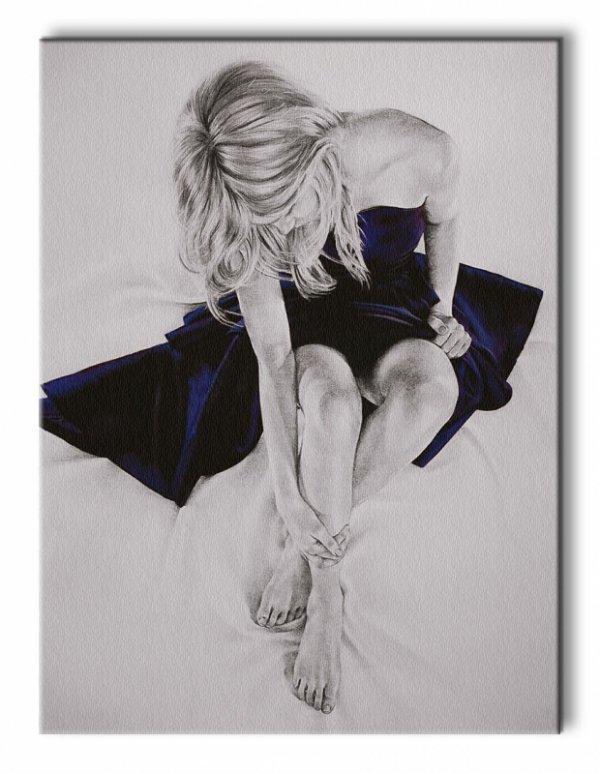 Nocturnes With Blue - Obraz na płótnie