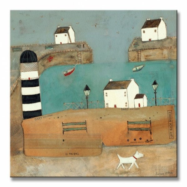 (A Trot Along The Harbour) - Obraz na płótnie
