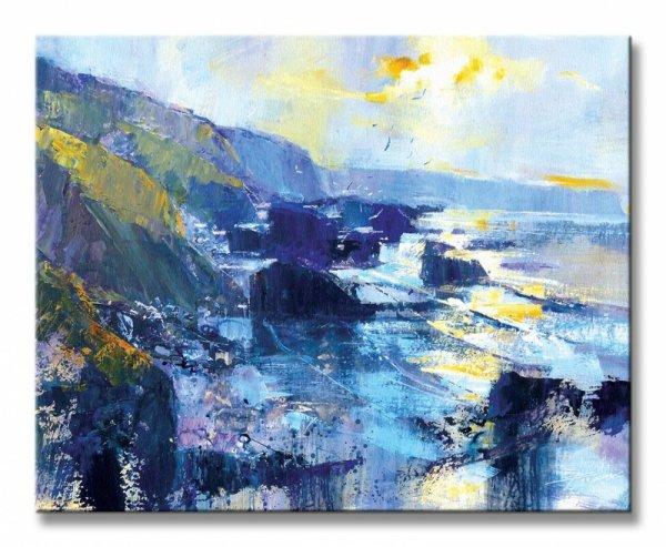 Tregardock Beach, December - Obraz na płótnie