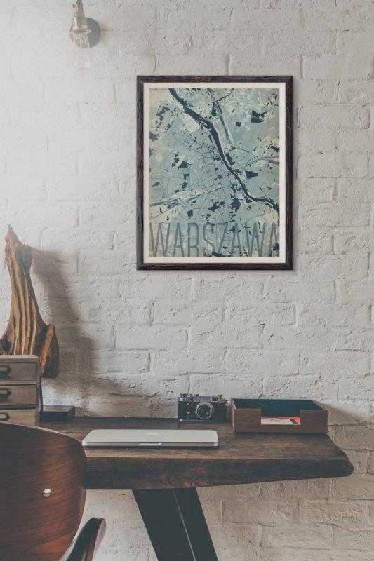 Plakat Na ścianę Warszawa Artystyczna Mapa 40x50 Cm