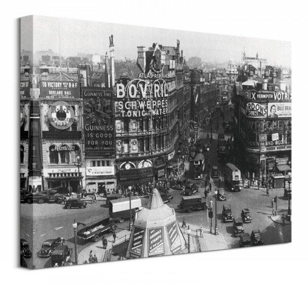 Obraz na płótnie - Piccadilly Circus, Londyn 1942 - DecoArt24.pl