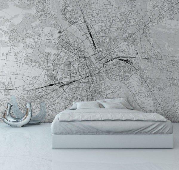 Fototapeta na ścianę  - Mapa miasta - Warszawa