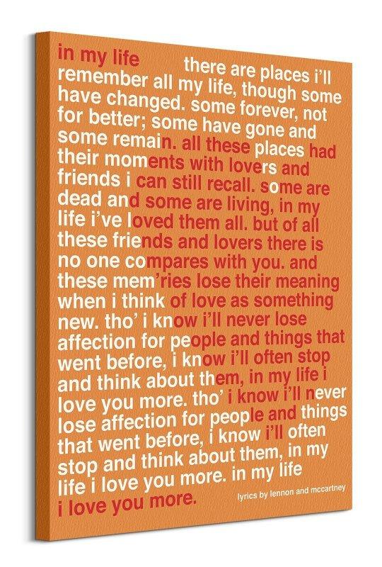 Lennon & McCartney In My Life - obraz na płótnie