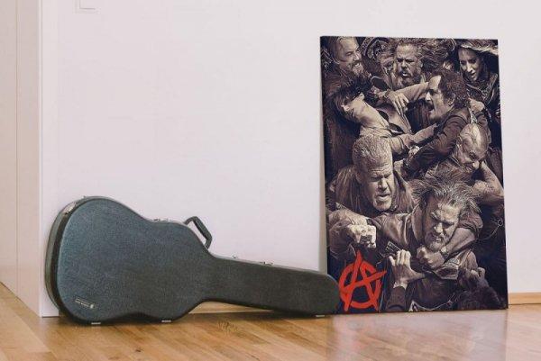 Synowie Anarchii Walka - obraz na płótnie