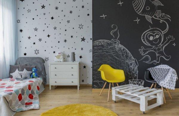 Fototapeta w gwiazdki na białym tle - 366x254 cm - decoart24.pl