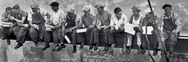 New York (robotnicy na belce) - plakat