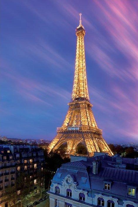 Paryż, Wieża Eifla (Poranek) - plakat