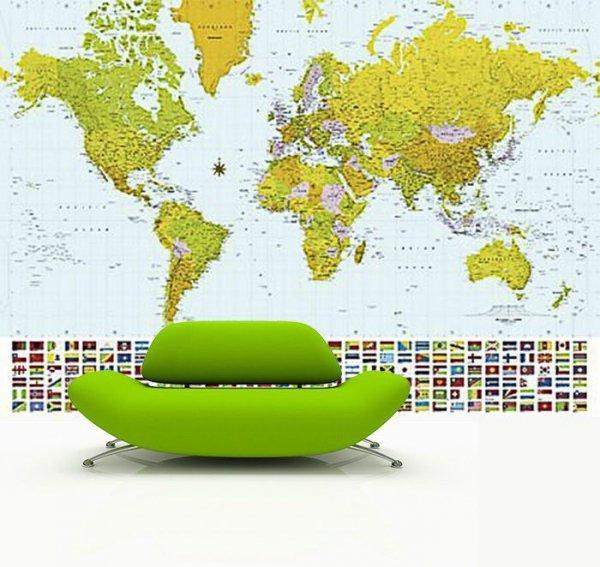 Fototapetado salonu - Mapa Świata 2007 - sklep online