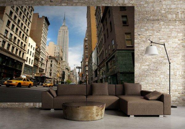 Fototapeta do salonu - New York Empire - 254x183 cm