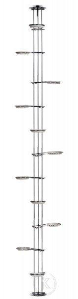 Kwietnik metalowy - Stojak na kwiaty - Rozporowy Chrom (270cm)