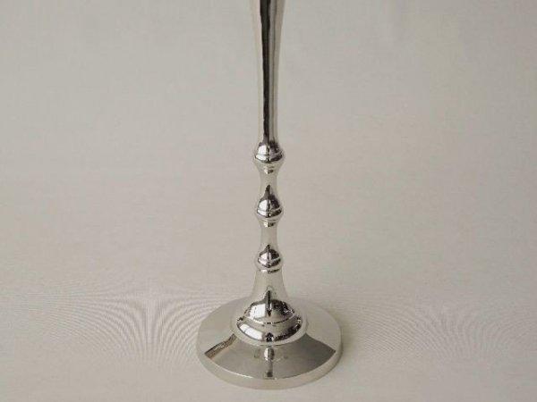 Świecznik - Pięć ramion - 42x75cm - Mosiądz niklowany