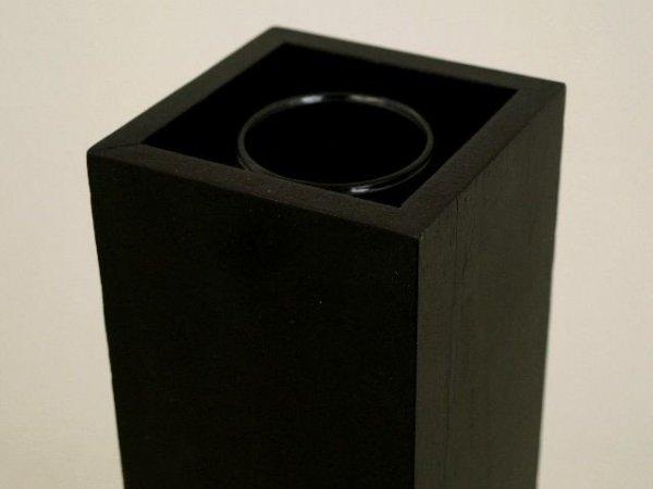 Wazon drewniany 9x9x33cm