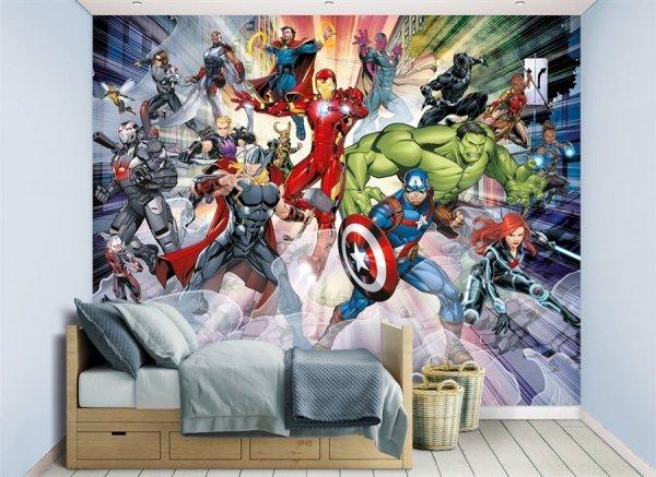 Fototapeta dla dzieci - Avengers 2 - 3D - Walltastic - Sklep