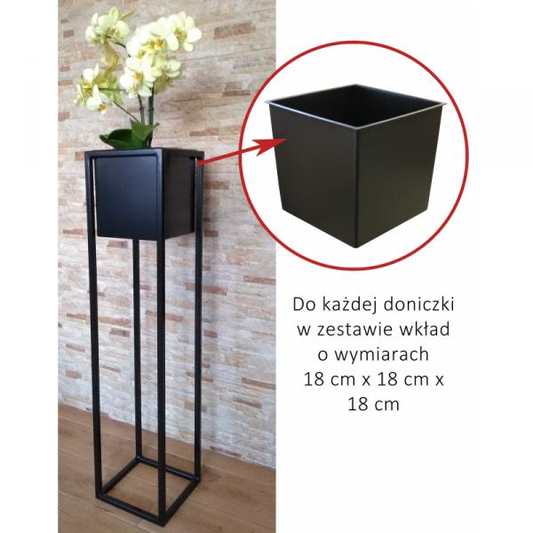 Kwietnik metalowy - Stojak na Kwiaty z doniczką - LOFT 90 - dekoracje dodomu - decoart24.pl