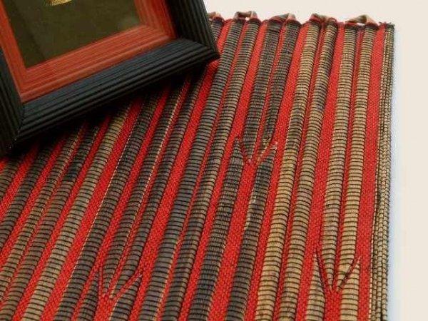 Podkładka na stół - Brązowo Czerwona - Z abaki - 33x48cm