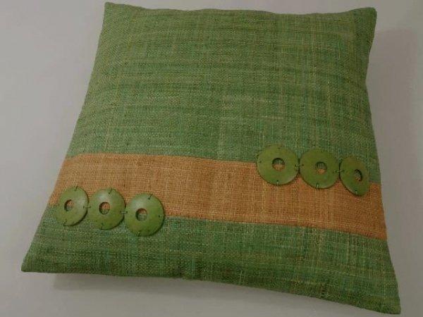 Poszewka na poduszkę - Jasna zieleń - Z rafii - 45x45cm