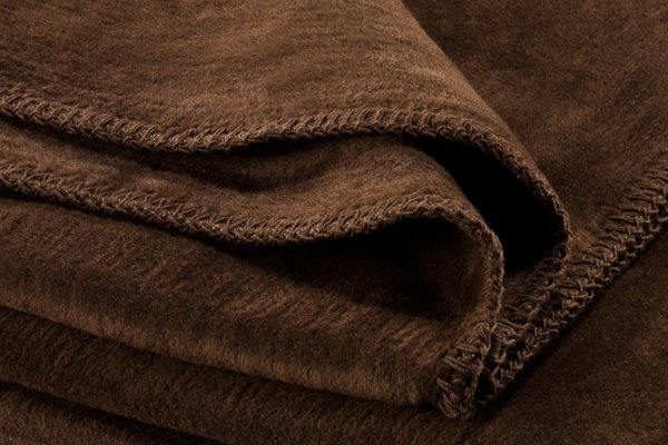 Koc - Brązowy - 130x180 cm - SoftLine Brown