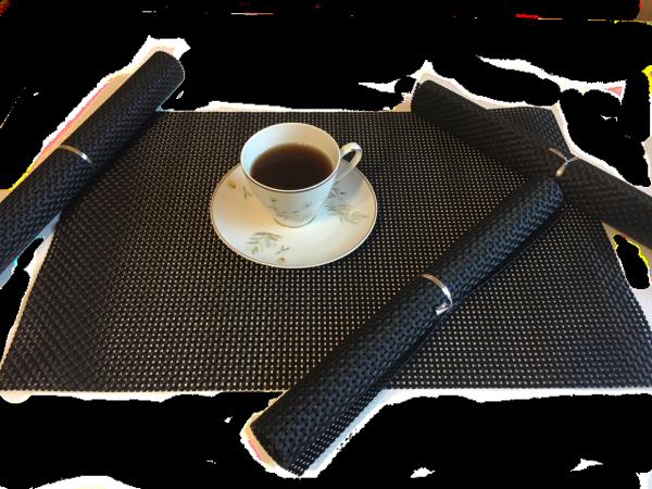 Czarne podkładki na stół - Sklep online