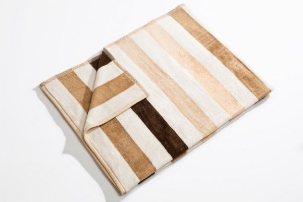 Koc - 150x200cm - Stripes beige