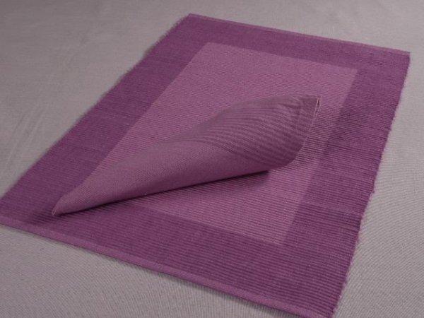 Podkładki na stół + Serwetki x 4-szt - Fiolet Bawełna