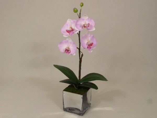 Sztuczny storczyk - Orchidea - W doniczce - Jasny róż - decoart24.pl
