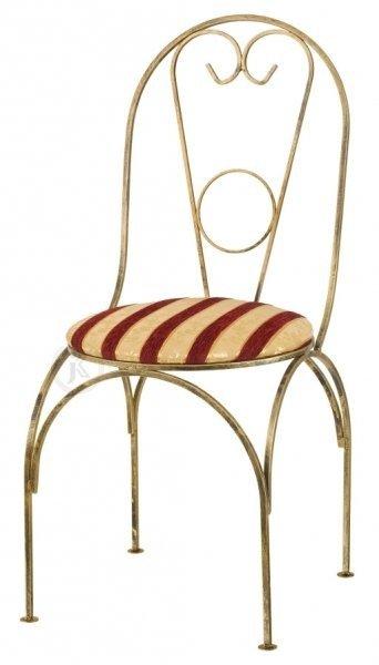 Krzesło metalowe z siedziskiem - Sklep internetowy