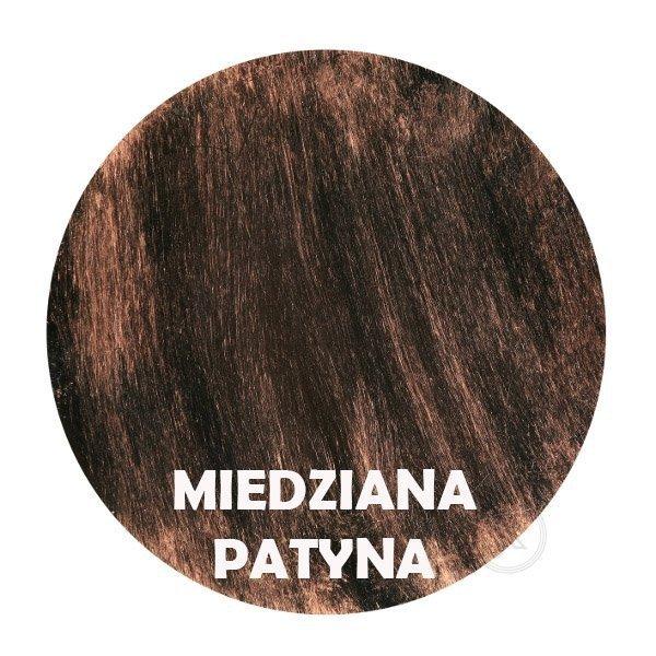 miedziana patyna - Kolorystyka metalu - Kwietnik metalowy - Decoart24.pl