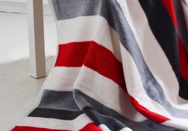 Koc - Stripes red - 150x200cm