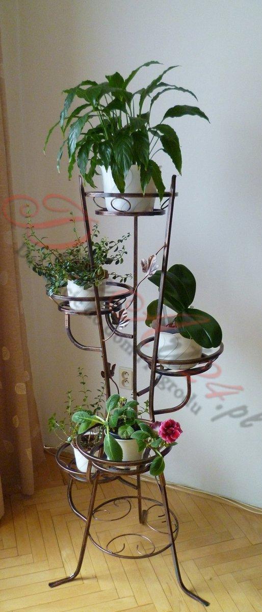 Kwietnik metalowy  - Stojak na kwiaty - Na 5 Doniczek