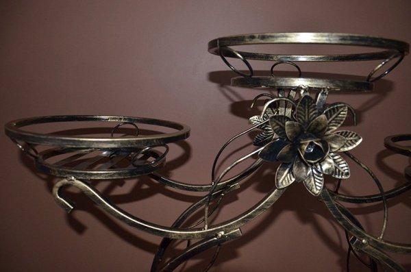 Kwietnik metalowy - Stojak na kwiaty - Pingwin 4-ka
