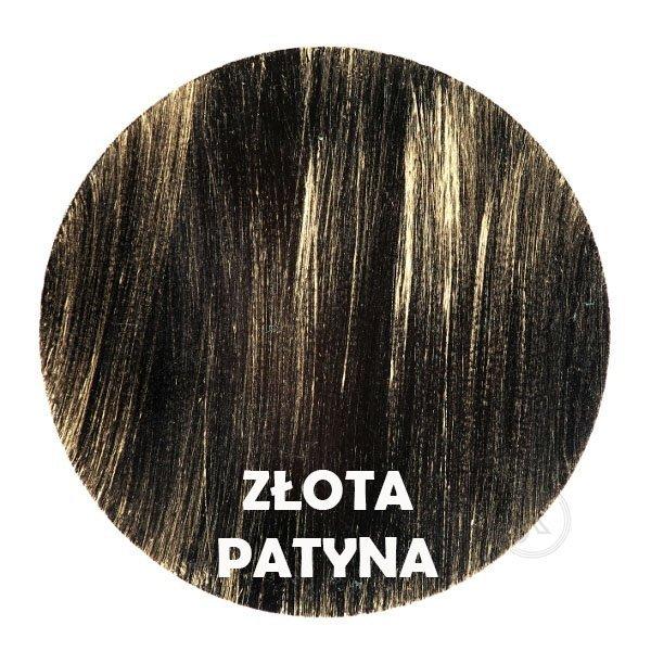 Złota patyna - kolorystyka metalu - Kwietnik - Stojak na kwiaty - Sklep DecoArt24.pl