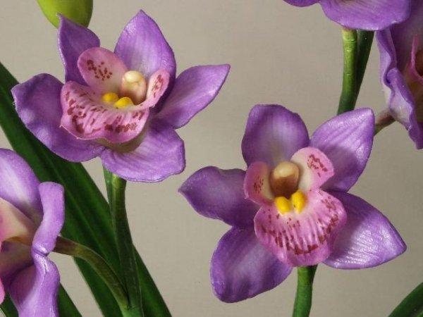 Sztuczny storczyk - Orchidea - W doniczce - 33x56cm