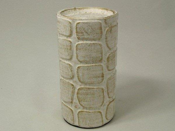 Świecznik - Biały - Ceramika - 10x19cm