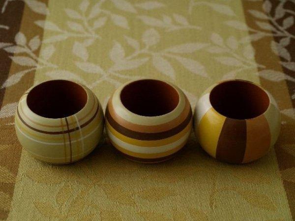 Podkładki na stół + Serwetki + Obrączki na serwetki x (6-szt) - Zieleń, Beż, Brąz