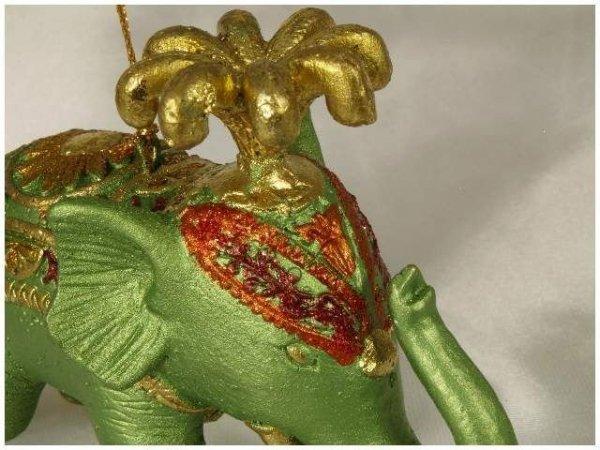 Ozdoba choinkowa - Słoń cyrkowy - 11,5cm  (6szt. w opakowaniu)