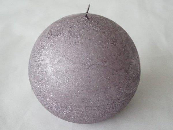 Świeca ozdobna - Lawendowa - Kula 6cm