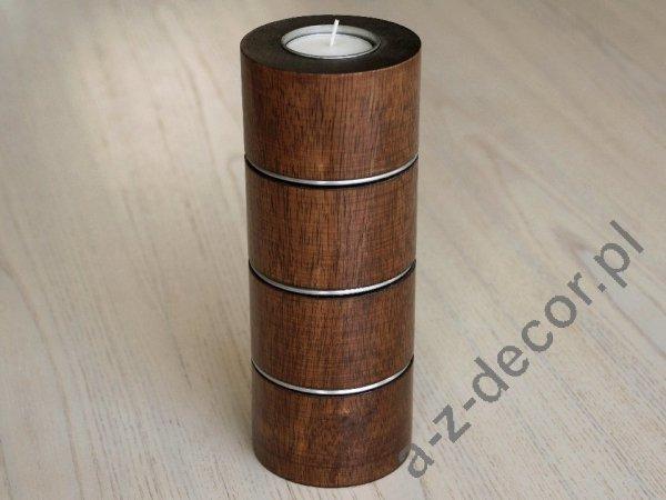 Świecznik - Drewniany - 8x20cm