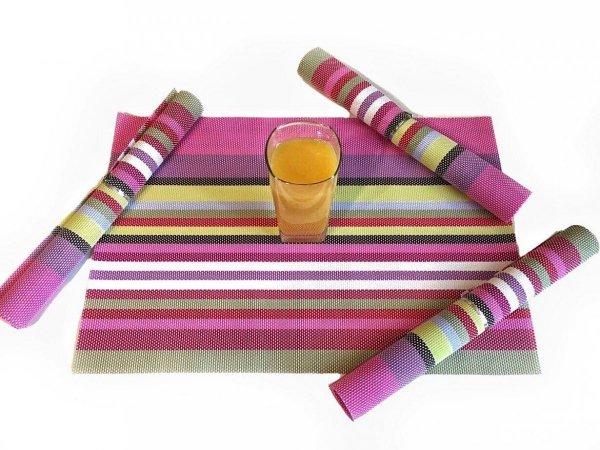 Różowe podkładki na stół - Decoart24.pl