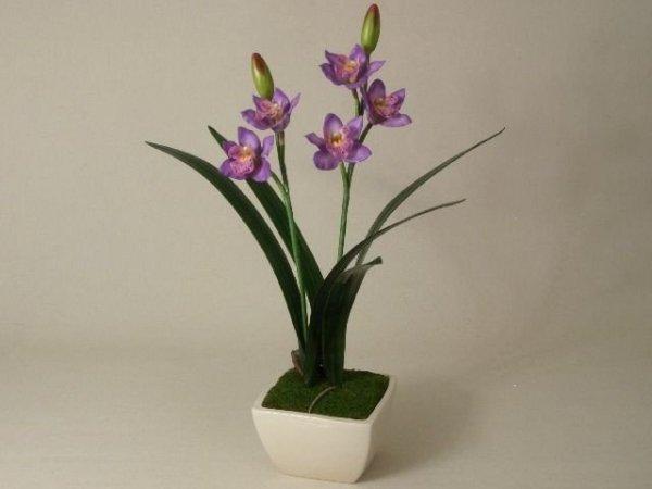 Sztuczny storczyk - Orchidea - W doniczce - Sklep internetowy decoart24.pl