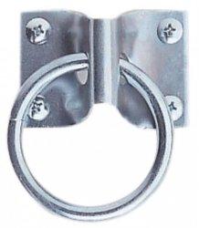 BUSSE PLATTE Kółko do wiązania konia metalowe