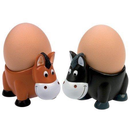 Podstawki pod jajka HR w kształcie koni 2 szt.