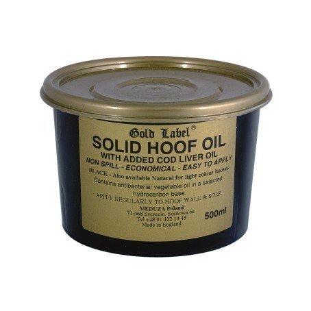 GOLD LABEL SOLID HOOF OIL BLACK Stały olej do kopyt