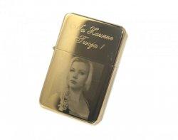 Zapalniczka benzynowa złota z grawerem Twojego zdjęcia