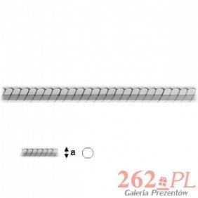 Łańcuszek Linka Wąż Srebro 925 45cm 2,5g