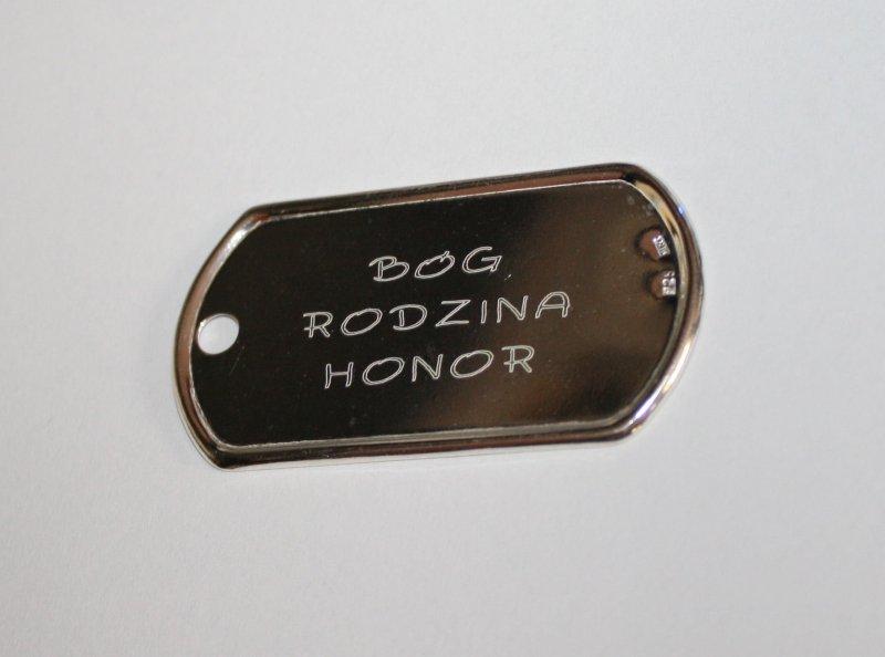 Nieśmiertelnik Medalik srebro 925 GRAWER zdjęcia
