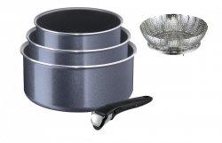 Set: Garnki Tefal L23193 02 Ingenio Elegance 4 PCS 16/18/20 cm + rączka + koszyk do gotowania na parze
