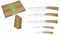 Noże Gerlach 320 Natur zestaw noży + blok + Deska Gerlach 30x24
