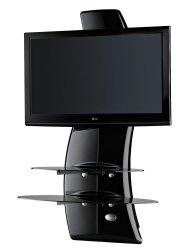 Półka pod TV z maskownicą Meliconi GHOST DESIGN 2000 z rotacją | Panel TV | CZARNA