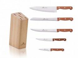 Noże Gerlach 959A Country 5 noży + blok *NOWOŚĆ*