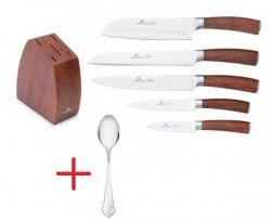Noże Gerlach 979 Colonial | Zestaw 5 noży + blok + łyżka BAROK NK26